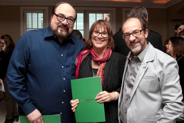 Rubens Ewald Filho, Eva Piwowarski e Marcos Santuário, em foto de Edison Vara / PressPhoto