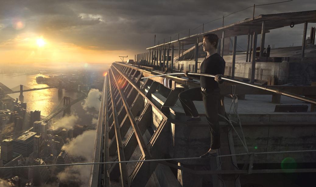 Philippe Petit (Joseph Gordon-Levitt) in TriStar Pictures' THE WALK.